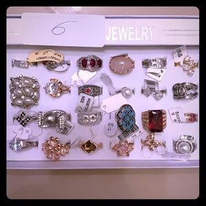 Wholesale lot of 24 rings